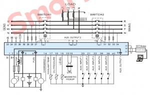 HGM6120UC  ЖК, RS485, Меню на русском языке/ автоматический запуск генератора