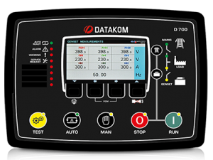 D-700 TFT-AMF Контроллер для генератора (RS-485, Ethernet)