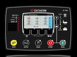 D-700 TFT-AMF-GSM Контроллер для генераторов (RS-485, Ethernet, GSM)