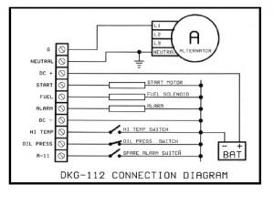 DKG-112 Ручной запуск генератора (12V energize to stop)