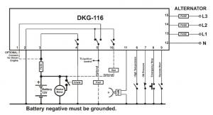 DKG-116 Ручной и удаленный запуск генератора 12V