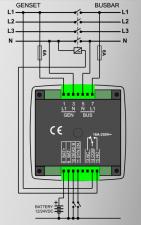 DKG-117 Синхроскоп и реле включения синхронизации 96х96