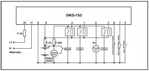 DKG-153 Ручной запуск генератора (Твердотельные выходы 1,2А)