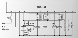 DKG-154 Удаленный запуск генератора (Твердотельные выходы 1,2А)