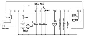 DKG-155 Ручной запуск генератора