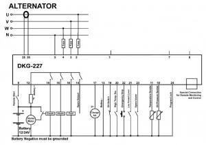 DKG-227 Ручной и удаленный запуск генератора