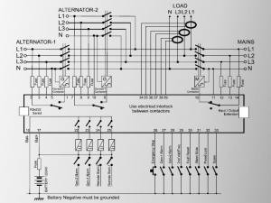 DKG-329 DUAL Автоматическое переключение сети+2 генератора  (Сух.конт.на запуск генератора)