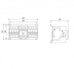 SQ3-63 4P Реверсивный рубильник с мотор приводом, 63A, 400/230V