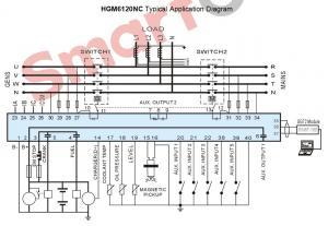 HGM6120N ЖК, автоматический запуск генератора